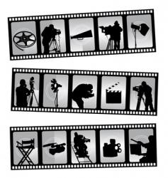 movie filmstrip vector image vector image