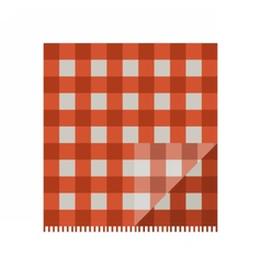 Red Picnic Cloth vector image vector image