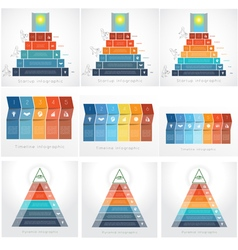Templates for Infographics Business set 5 6 7 vector image vector image