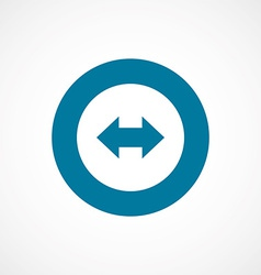 arrow bold blue border circle icon vector image