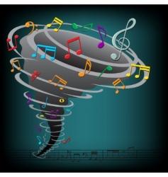 music tornado vector image vector image