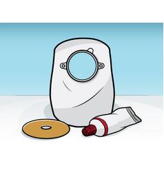 ostomy bag vector image vector image