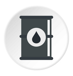 barrel of oil icon circle vector image