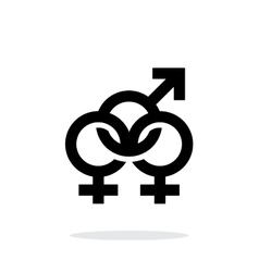 Bisexual icon on white background vector image vector image