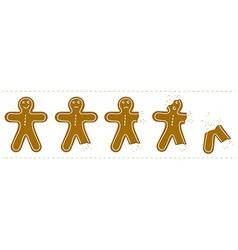 Gingerbreadman bites vector