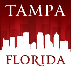 Tampa Florida city skyline silhouette vector image vector image