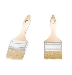 two brush vector image vector image