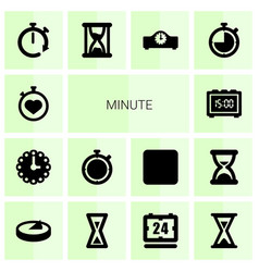14 minute icons vector