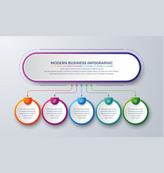 5 steps modern infographic vector