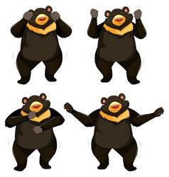 A set of bear shmoney dance vector