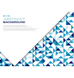abstract of blue triangle pattern geometric vector image