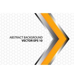Abstract yellow metal arrow hexagon vector
