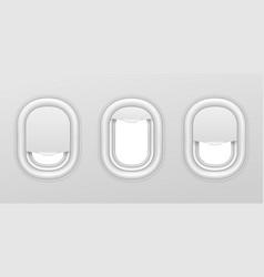 airplane windows aircraft interior vector image