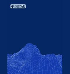 alien mountain net blue landscape for presentation vector image