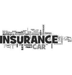 auto insurance myths you should know about text vector image