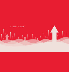 banner web template design business growth vector image