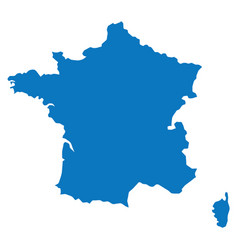blank blue similar france map isolated on white ba vector image