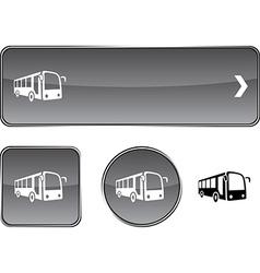 Bus button set vector