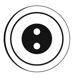 button icon simple style vector image