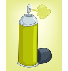 cartoons decoration spray paint vector image