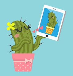 Chat cactus vector
