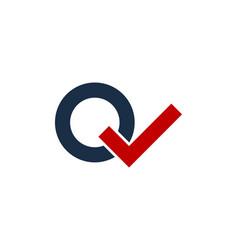 Check letter q logo icon design vector