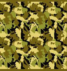 Classic seamless military camouflage pattern vector