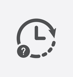 clock icon with question mark vector image