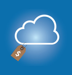 Cloud service pricing dollar price tag money vector