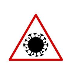 Coronavirus molecule in a triangular sign vector