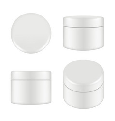 cosmetic package rounded cleaning cream plastic vector image