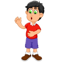 Cute little boy cartoon shocked vector