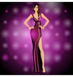 Dancing party girl vector image