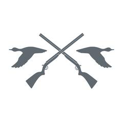 Duck hunt icon vector