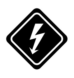 Energy ray caution sign vector