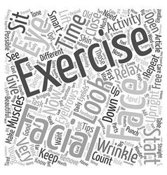 Facial Exercise text background wordcloud concept vector