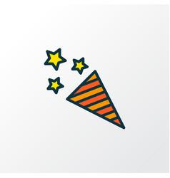firecracker icon colored line symbol premium vector image