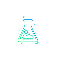 flask lab icon design vector image