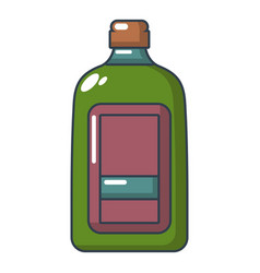 flat bottle icon cartoon style vector image
