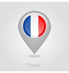France flag pin map icon vector image