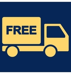 Free Delivery icon from Business Bicolor Set vector image
