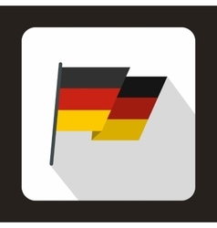 Germany flag icon flat style vector image