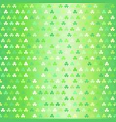 Glowing shamrock pattern seamless clover vector