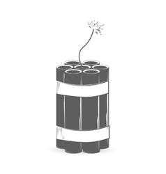 Grey dynamite bomb vector