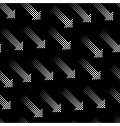 Halftone Arrows Seamless Pattern vector image