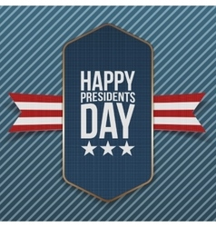 Happy Presidents Day big realistic american Banner vector image