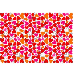hearts background as mosaic in various color vector image