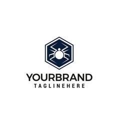Hexagonal spider logo design template design vector