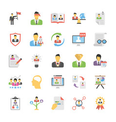 Human resource icon set vector