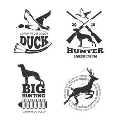 Hunting club vintage labels emblems logos vector image